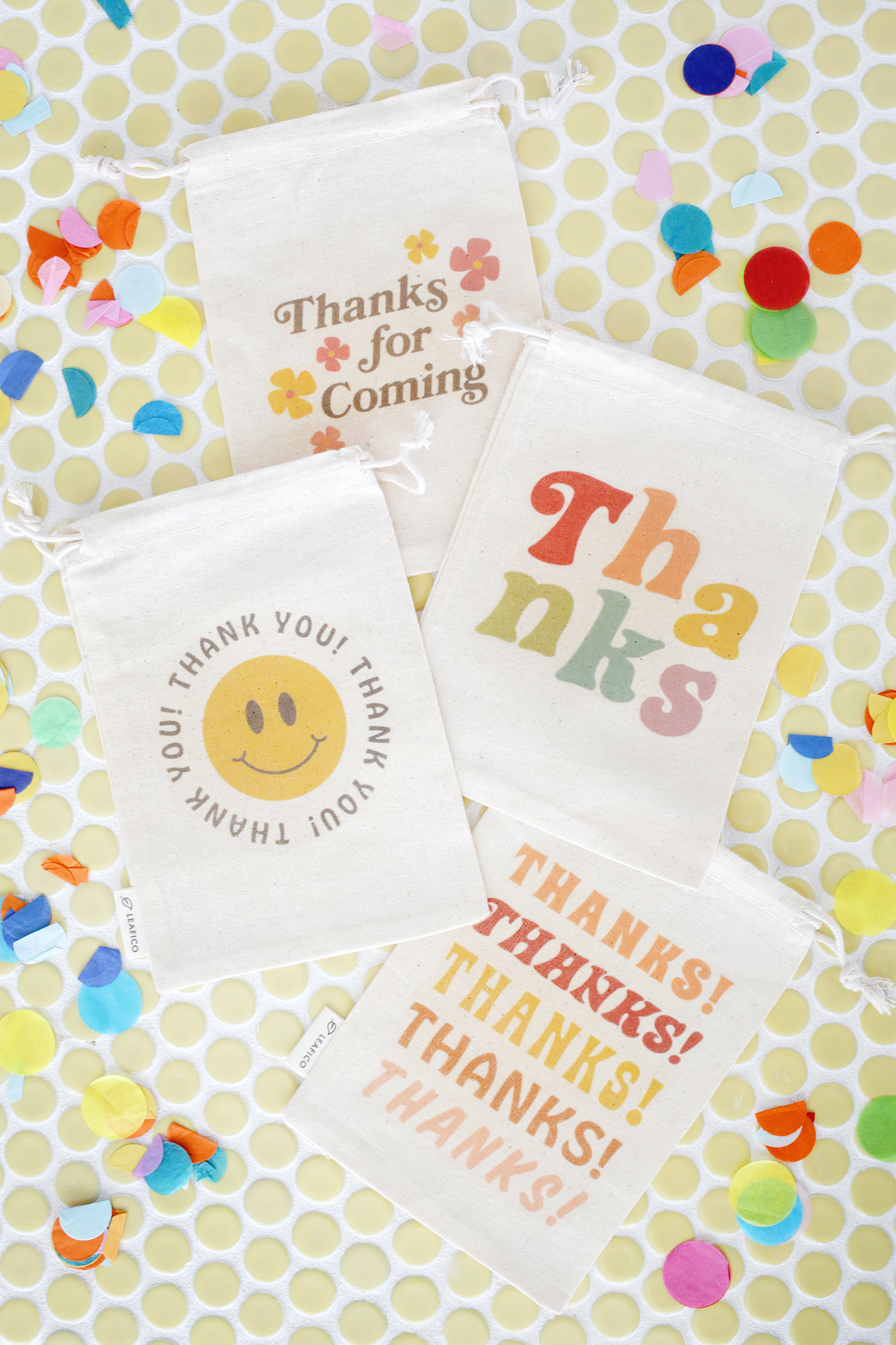 Cloth Party Favor Bags (With Free Printable!)