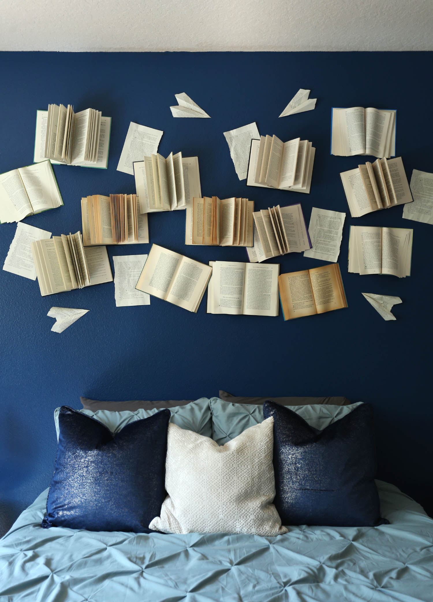 Open Books Accent Wall