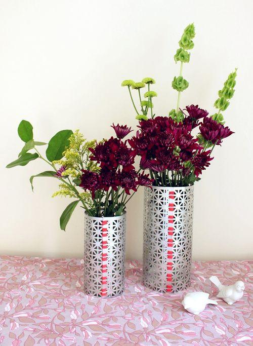 Make Your Own Flower Vase D.I.Y. - A Beautiful Mess Diy Flower Vase Designs on luminary vase, diy flower pot, diy flower valentine, diy flower cross, diy flower mask, diy flower vest, diy flower coaster, diy flower arrangements, diy flower tree, diy concrete vases, diy flower bucket, dahlia flowers in vase, diy flower soap, centerpiece ideas glass vase, diy bamboo vases, diy flower hat, diy flower plates, diy flower boxes, tissue paper on glass vase, diy flower ornaments,