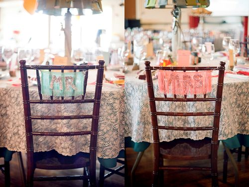 Mr + Mrs chairs