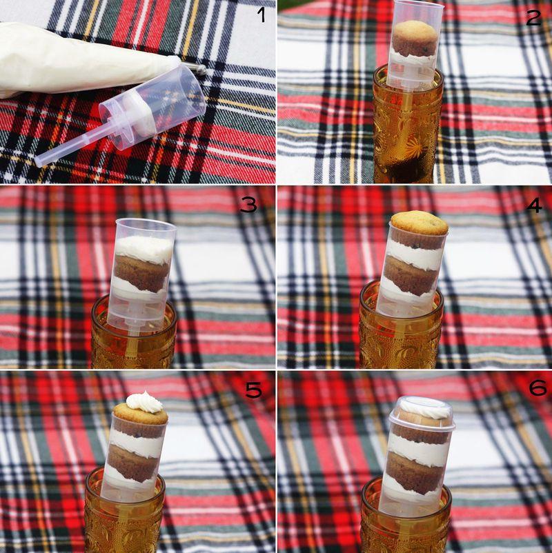 Cupcake push pops steps