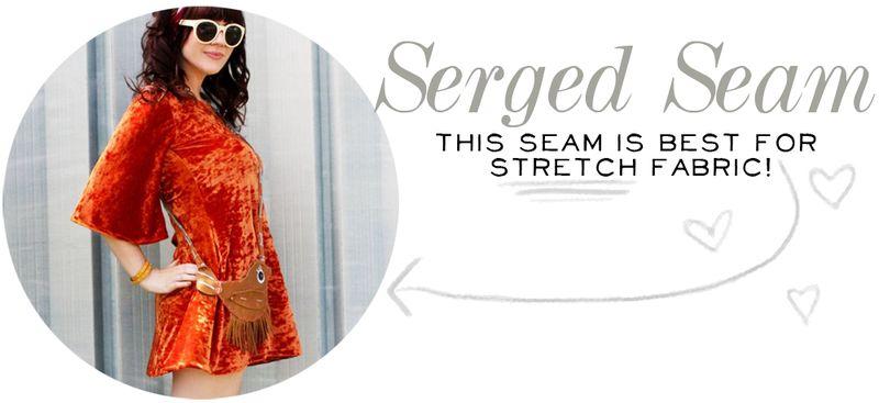 Serged Seam