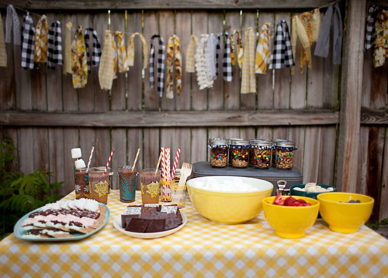 Last Week We Shared A Few Recipes From Our Little Backyard Bonfire Party Had So Much Fun Making Fancy S Mores And Enjoying Frozen Hot Chocolates
