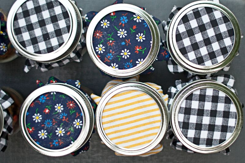 Fabric on jars