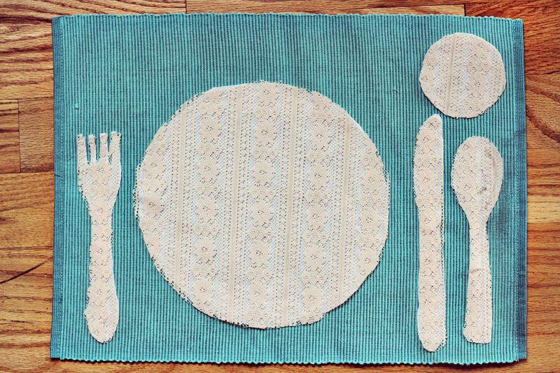 Place Setting DIY from A Beautiful Mess : completed project