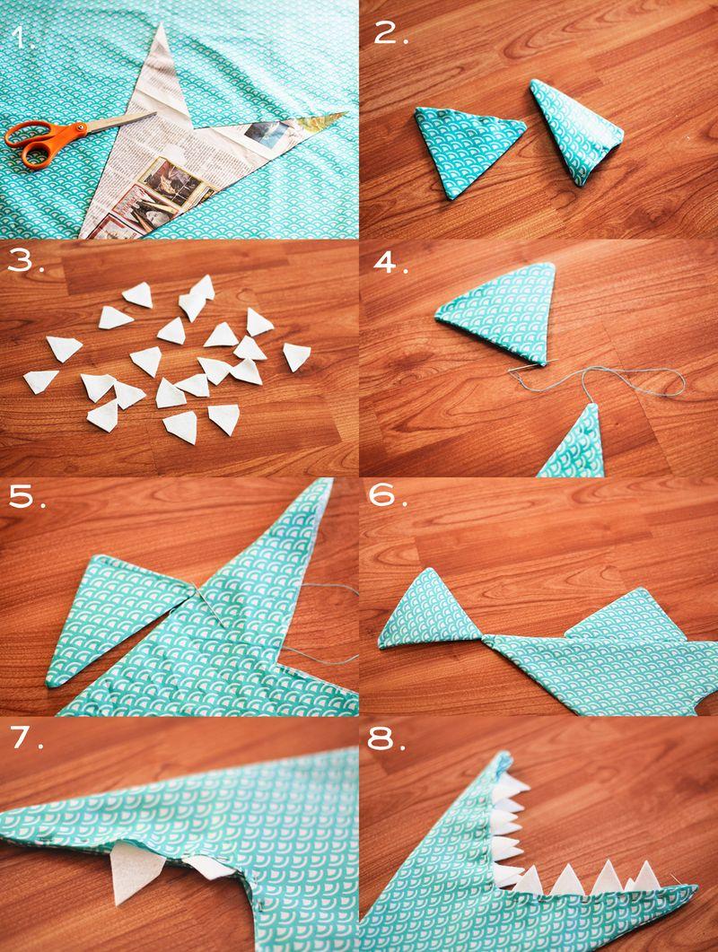 Shark purse steps