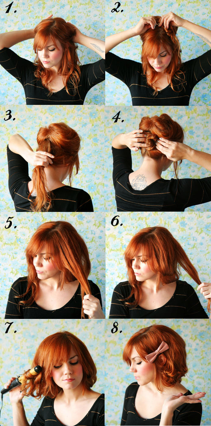 How to style long hair short