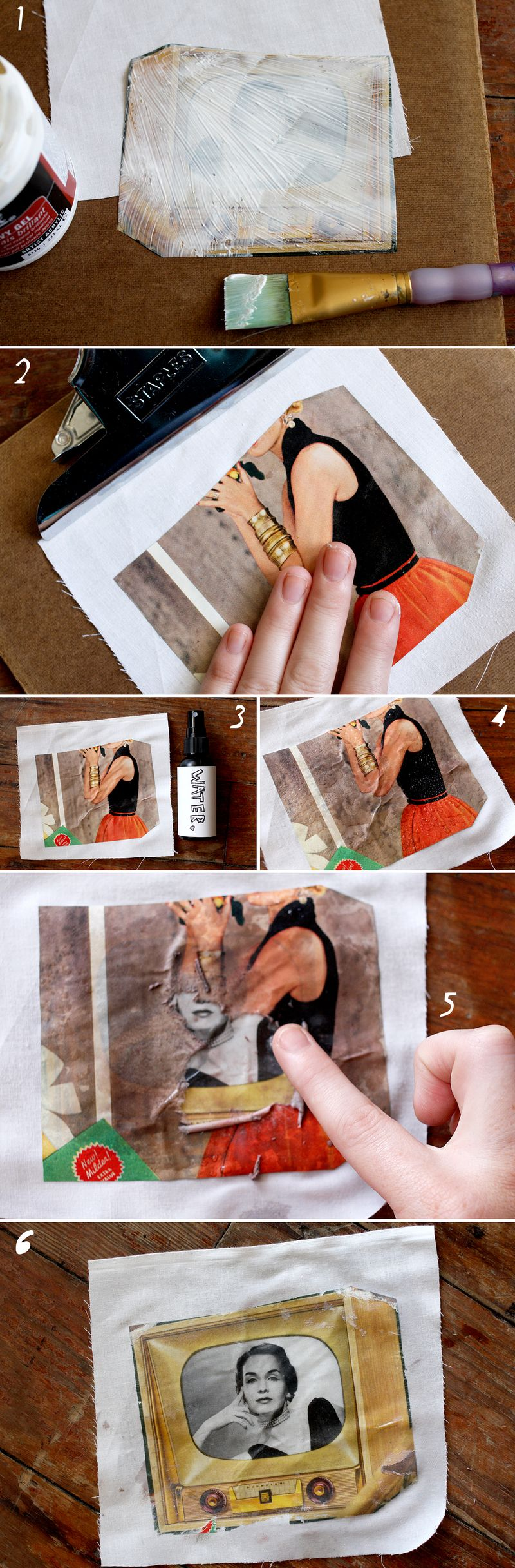 how to transfer a photo to fabric - A Beautiful Mess