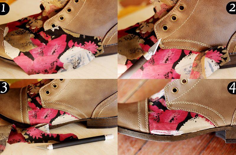 Floral boots DIY 3