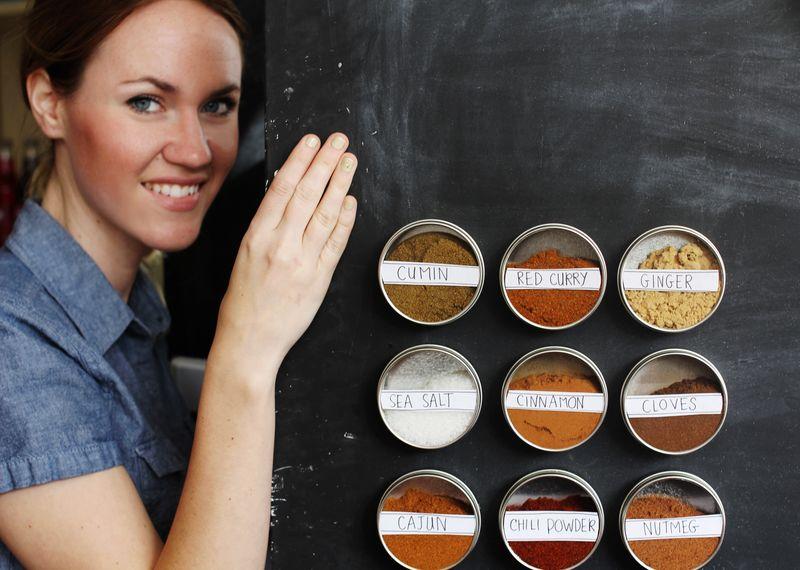 Magentic spice storage 5