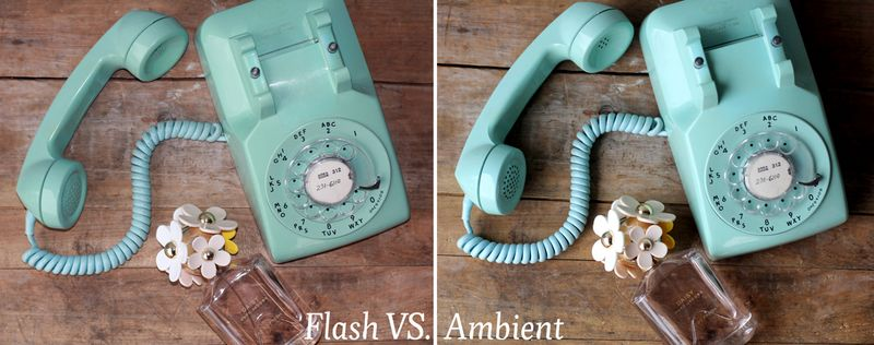 3 flash vs. ambient light