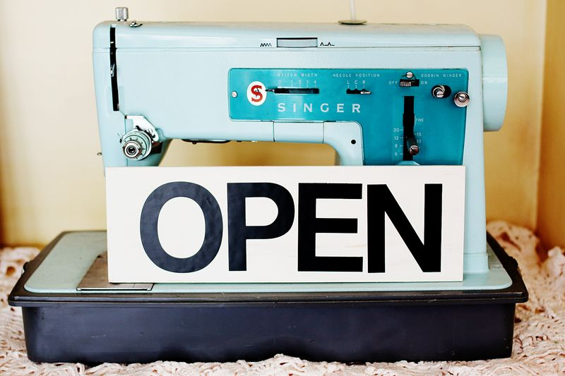 Open sign craft project