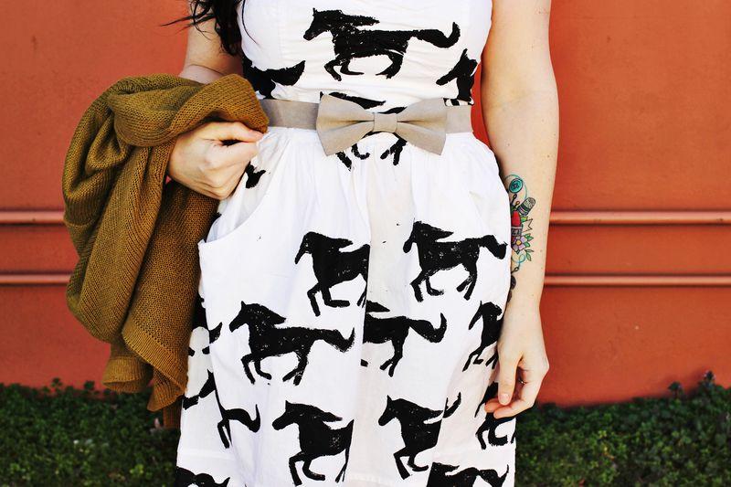 Pony stamp dress 2