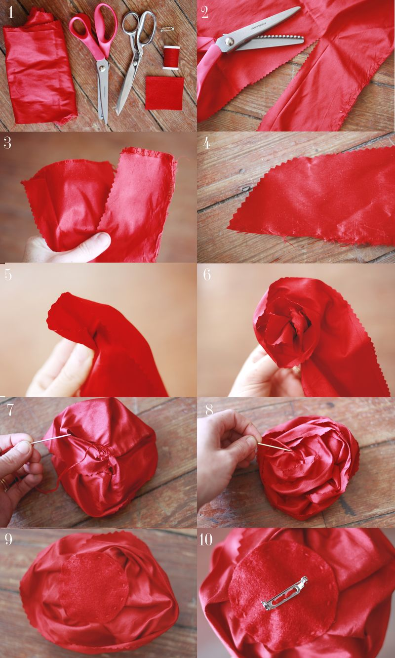 Make Your Own Silk Flower Brooches A Beautiful Mess