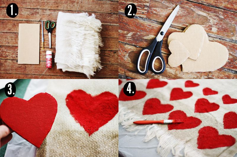 Heart blanket DIY 2