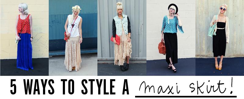 5 Ways To Style A Maxi Skirt - A Beautiful Mess c08aa15466b