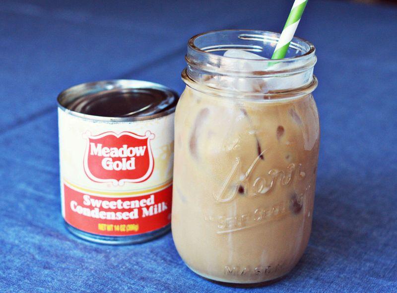 Ice coffee condensed milk