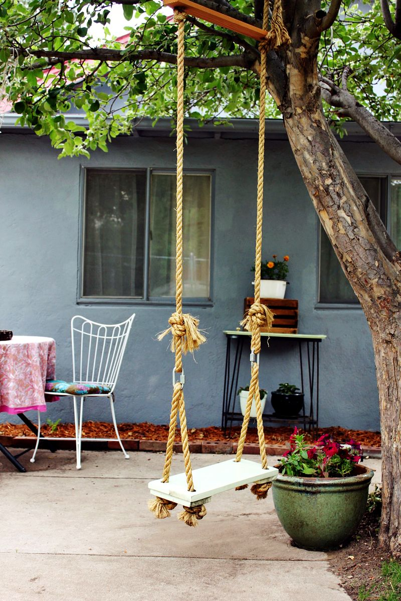 Make Your Own Tree Swing on A Beautiful Mess