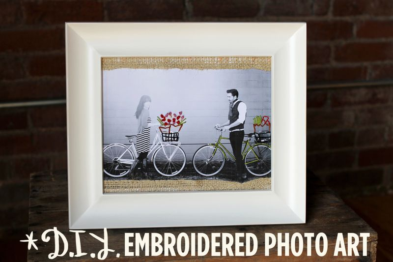 DIY Embroidered Photo Art by A Beautiful Mess