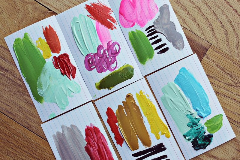 Painted Color Story Cards
