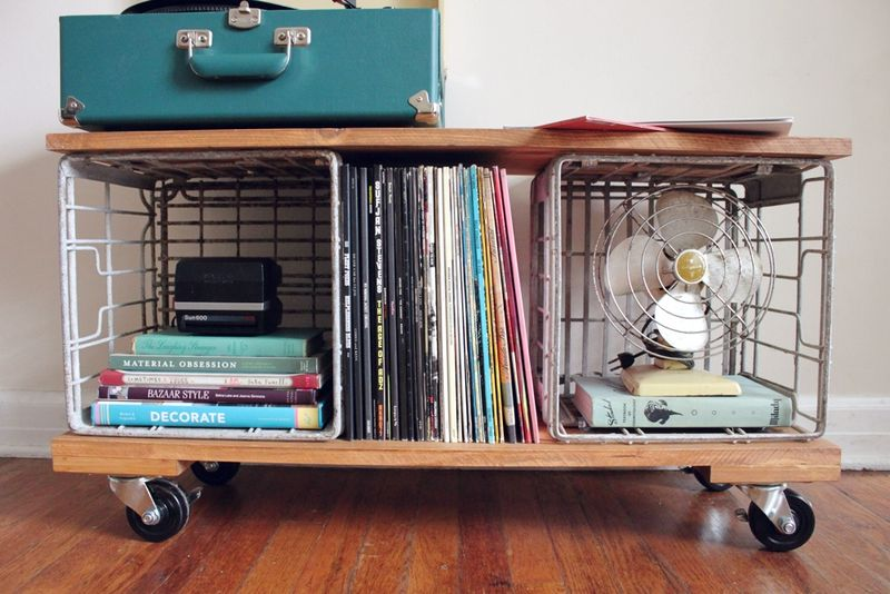 D I Y Industrial Record Cabinet A Beautiful Mess