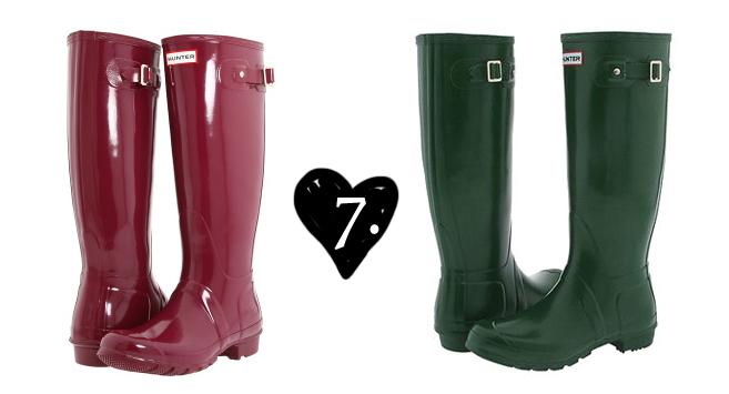 7 rain boots