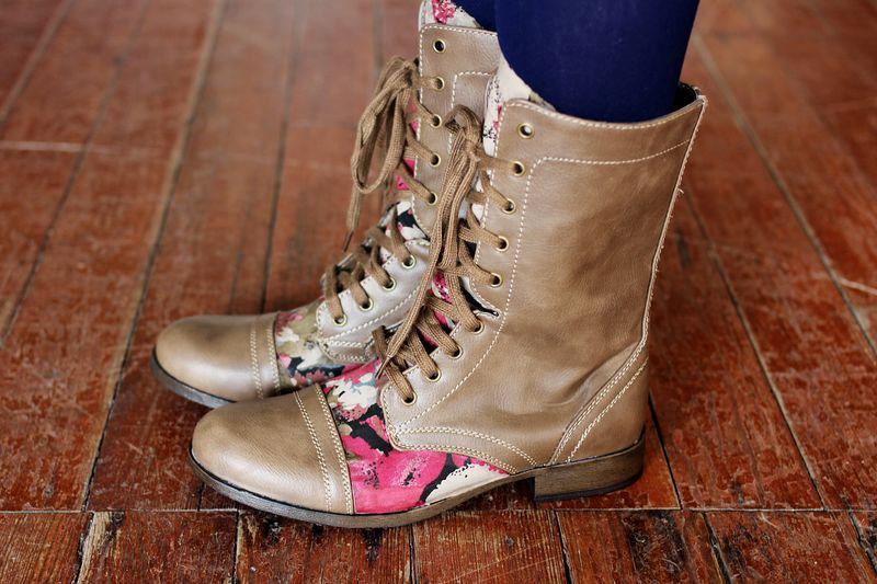 Floral boots DIY 4