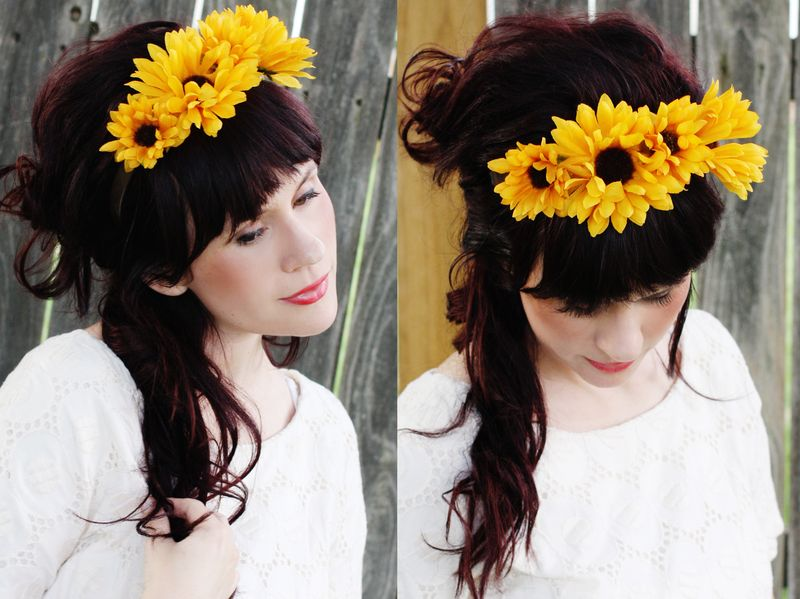 Floral Headband Diy Project A Beautiful Mess