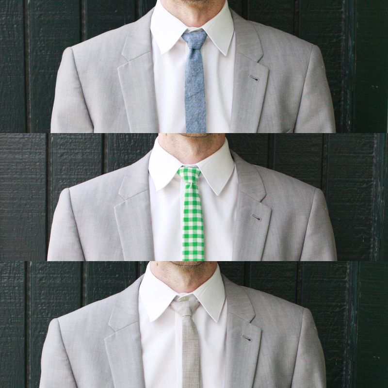 How to make a skinny tie