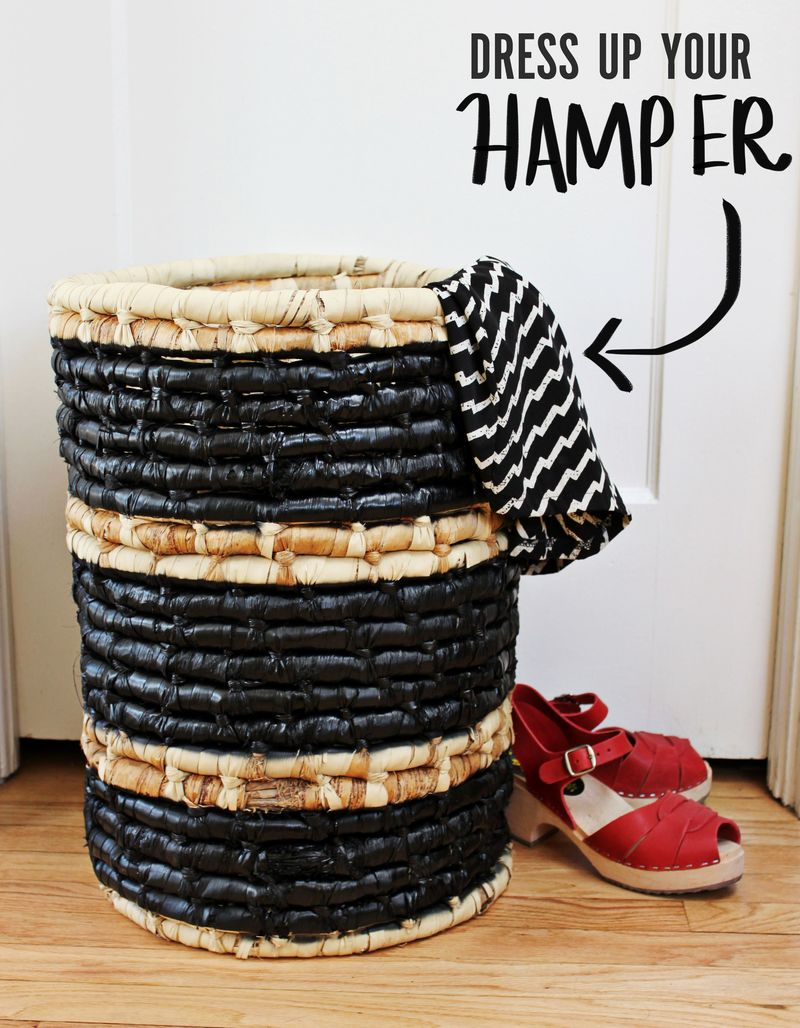 Dress Up Your Hamper Diy A Beautiful Mess