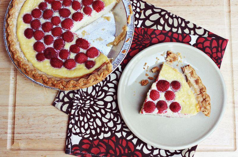 Ricotta raspberry pie