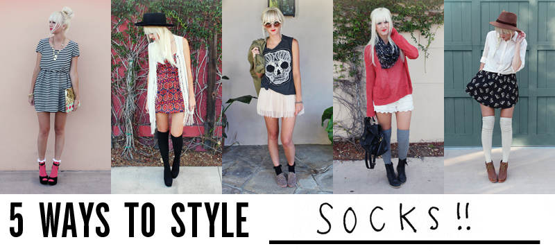 a5b64694d 5 Ways to Style Socks! - A Beautiful Mess