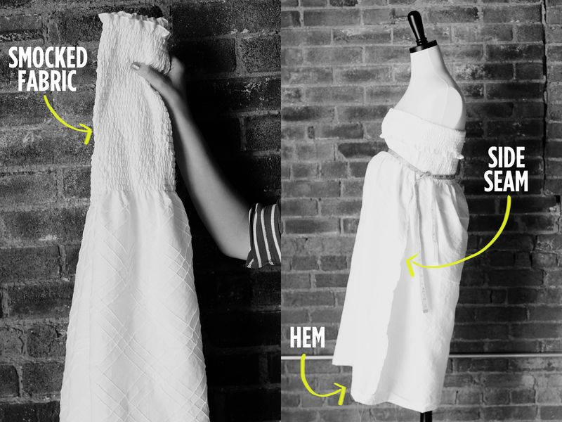 Smocked dress steps