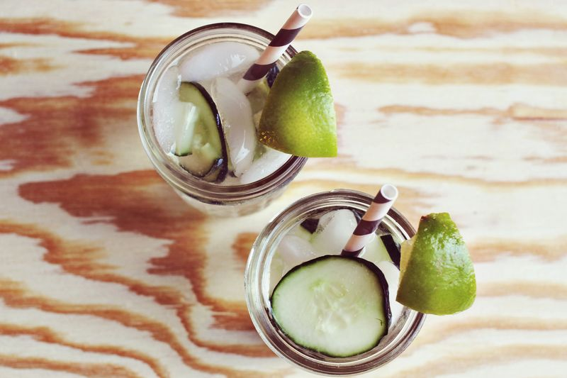 Cucumber Gimlet Recipe on A Beautiful Mess