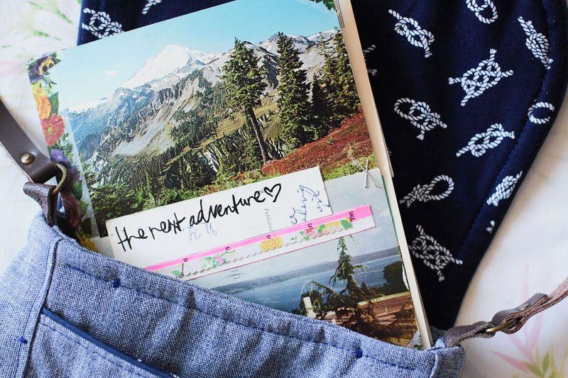 Vintage postcard travel journal 3