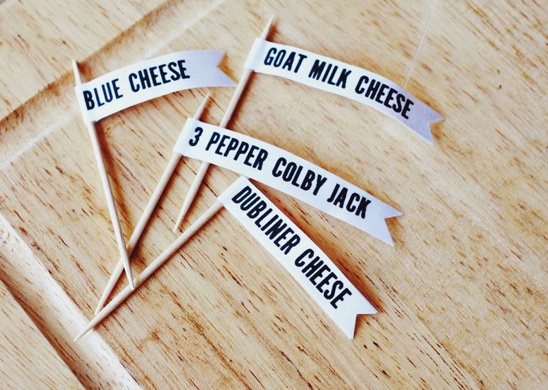 Cheese plate labels