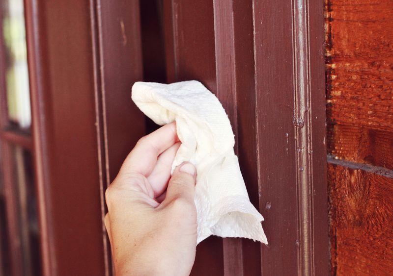 Front door wipe down