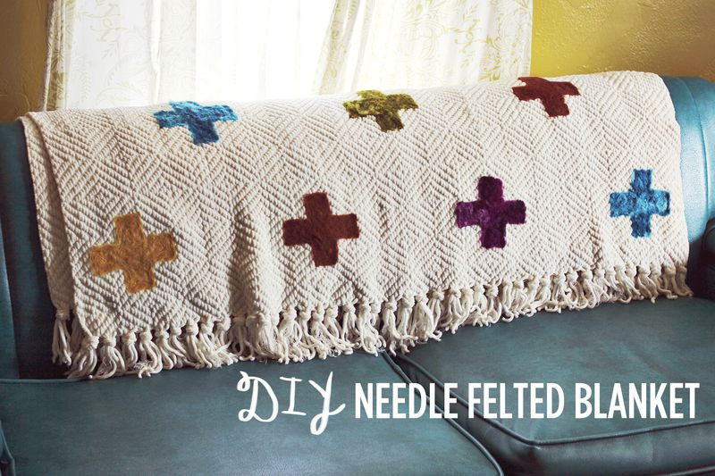 DIY Needle Felted Blanket