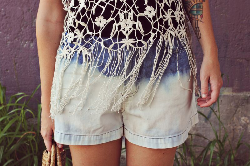 How to make bleached shorts