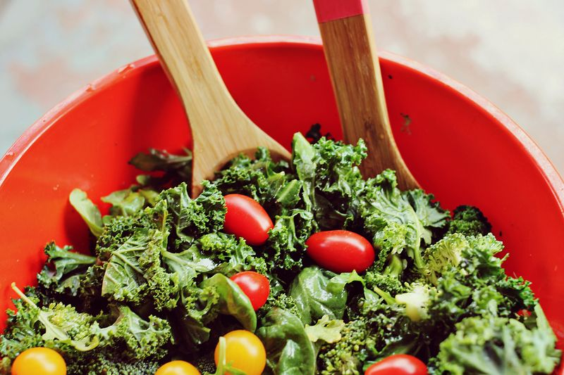 Curry + Fig Kale Salad