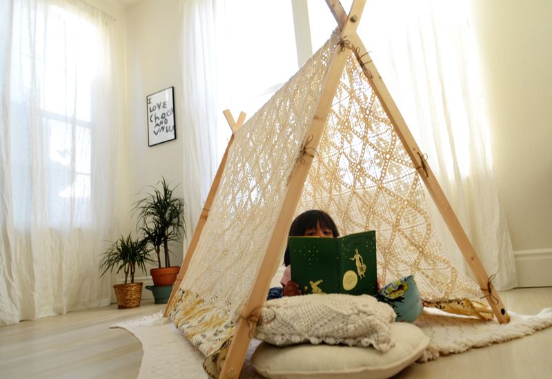 7414354a48d2 Make Your Own A-Frame Tent - A Beautiful Mess