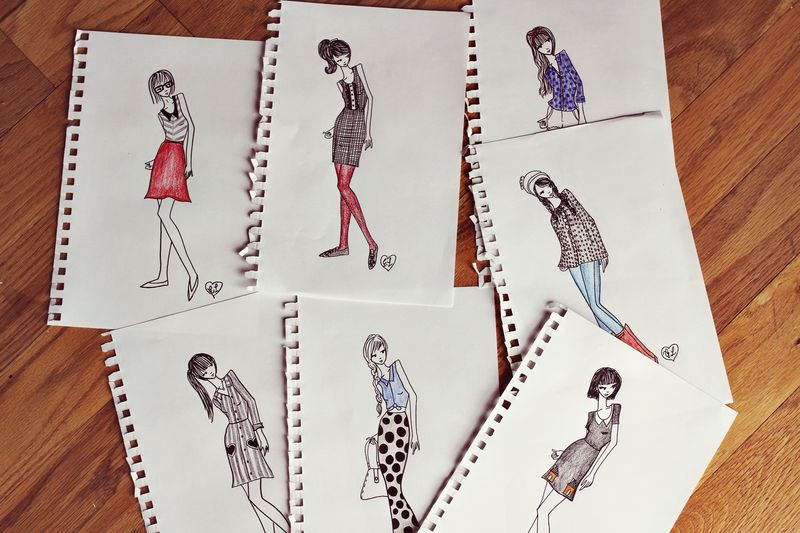 7ad20a40 Autumn Clothing Collection Sketches - A Beautiful Mess