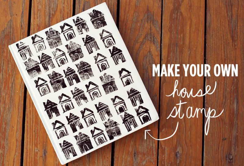 DIY House Stamp via A Beautiful Mess