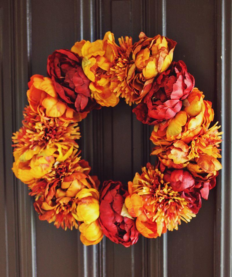 Autumn Floral Wreath DIY
