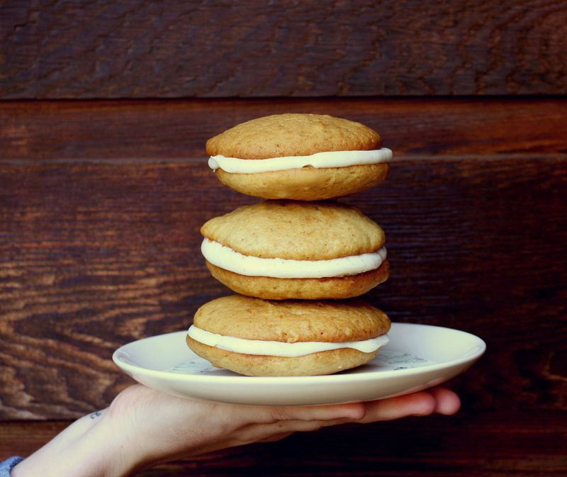 Spiced Cider Whoopie Pies