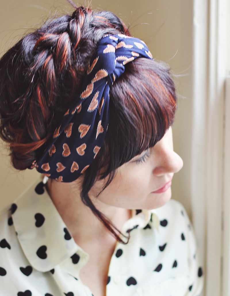 Scarf Styling: Heidi Braids with Turban Scarf