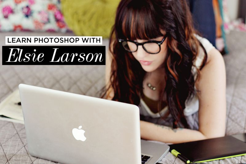 Learn Photoshop With Elsie Larson in the new Blog (Design) Love E-Course