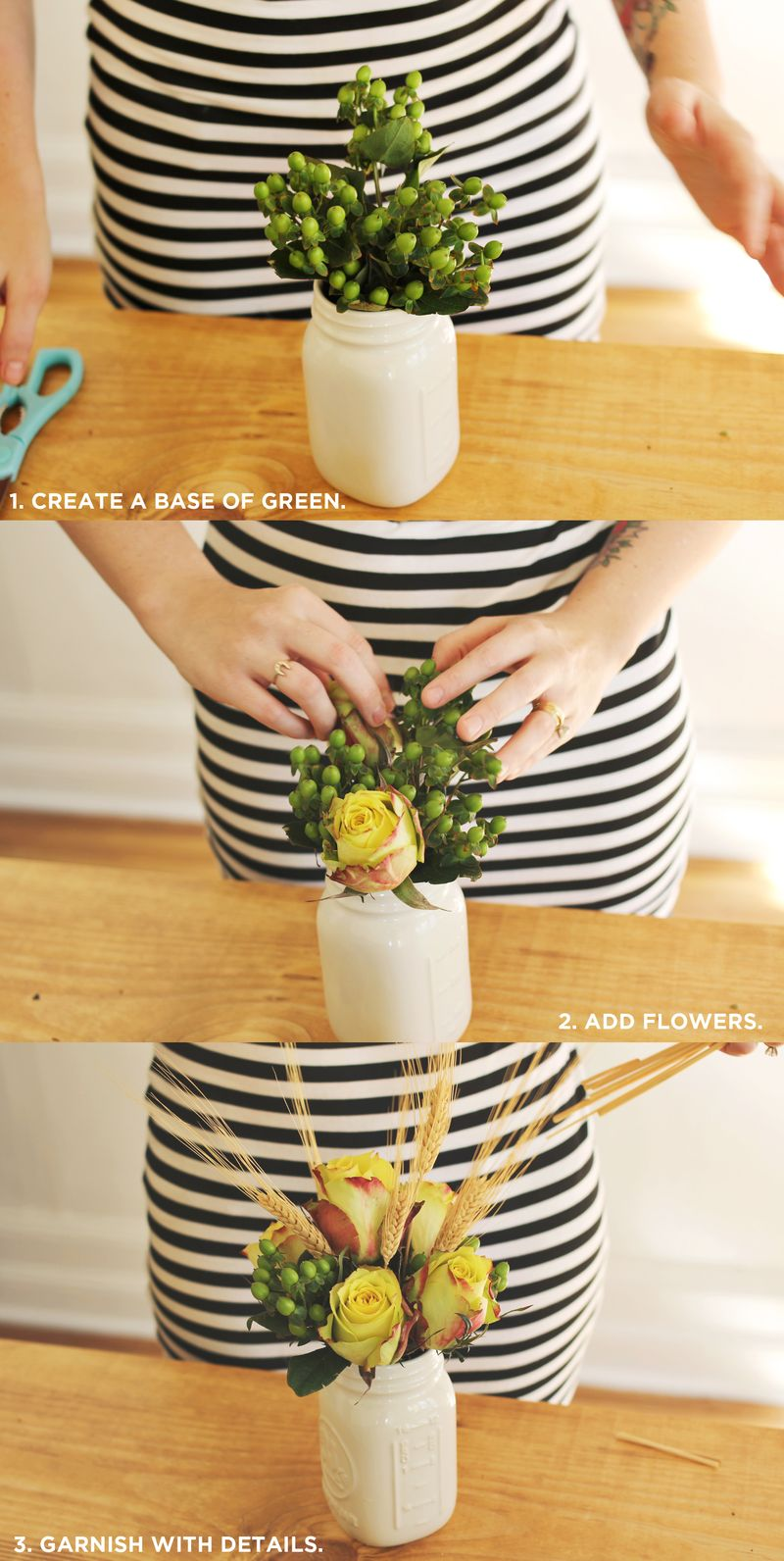 How to create a basic flower arrangement