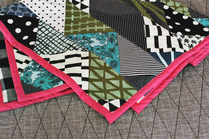 Hand Printed Quilt with Tutorial (via A Beautiful Mess)