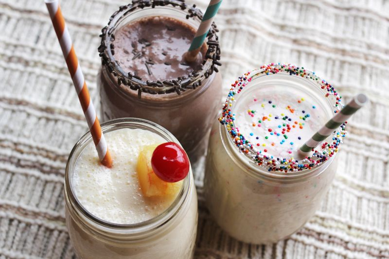 Cake Batter Milkshakes
